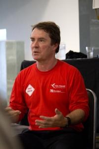 Simon Faulker presenting Drumbeat workshop