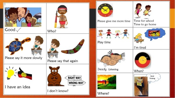 selective mutism cards with aboriginal cultural references included