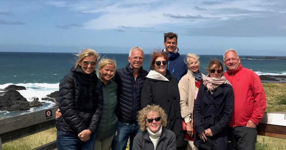 take two staff and visitors from norway sightseeing on Phillip Island
