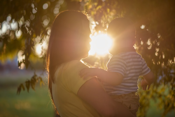 caregiver and child