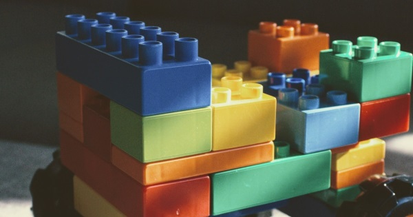 colourful interconnecting blocks designed for young children